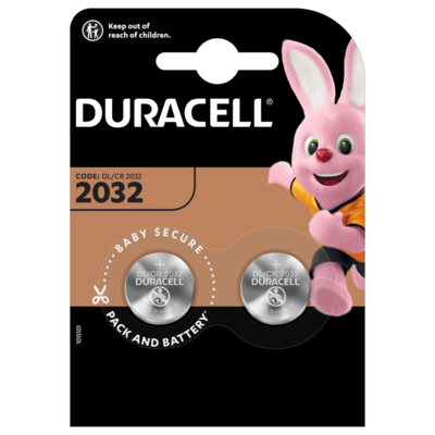 BLISTER 2 PILAS BOTON DURACELL DL2032