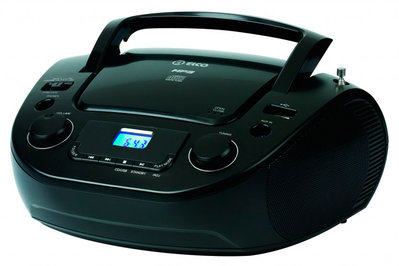 RADIO CD ELCO PCD33 NEGRO MP3 USB